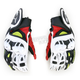 Black/Red/Yellow GPX Leather Gloves
