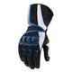 Black/Blue Compound Mesh Long Gloves
