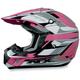 Pink Multi FX17 Helmet