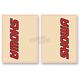 Red/Black Showa Upper Fork Decals - 01012