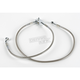Rear Standard Length Clear-Coated Braided Stainless Steel Brake Line Kits - 1204-2744