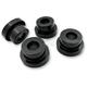 Gloss Black Angled Riser Bushing Kit - LA-7400-00B