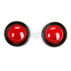 Deep Dish Bezels for Deuce Style Turn Signals w/Red Lens - 5482