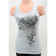 Womens Blue Lace Trim Tank