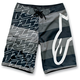 Black MTLB Stripe Boardshorts