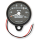 2240:60 Ratio Black Faced Mini Mechanical Speedometers With Black Housing - 2210-0253