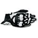 Black/White GPX Leather Gloves