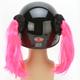 Pink Motorcycle Helmet Pigtails - PT107