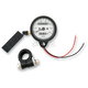 2:1 Ratio White Faced Mini Mechanical Speedometers/Tripmeter With Black Housing - 2210-0252