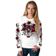 Womens White Live Love Ride Roses Long Sleeve Shirt