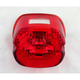 Red Laydown Taillight Lens with Top Tag Window - 0902-6320