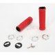 Red ATV Ruffian Half Waffle Lock-On Grips - J32RFRS