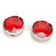 Red Turn Signal Lens Kit with Chrome Trim Ring - 2020-0549