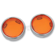 Amber Turn Signal Lens Kit with Chrome Trim Ring - 2020-0548