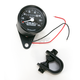 2:1 Ratio Black Faced Mini Mechanical Speedometers With Black Housing - 2210-0249