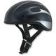 Black w/Silver FX-200 Slick Beanie-Style Half Helmet