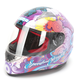 Purple Flower Power SS1100 Helmet
