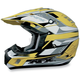FX-17Y Yellow Multi Youth Helmet