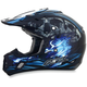 Black/Blue Multi FX-17 Inferno Helmet