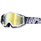 Black/White Racecraft Goggles w/Mirror Lens - 50110-011-02