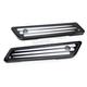 Black Deep Cut Dresser Saddlebag Latch Covers - 03-546