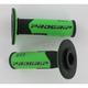 801 Hybrid Duo-Density Cross Grips - 801BLK/GRN