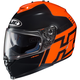 Orange/Black IS-17 Genesis MC-6 Helmet