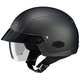 Matte Black IS-Cruiser Matte Black Half Helmet