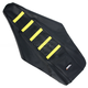 Black/Yellow Ribbed Seat Cover - 0821-1803