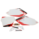 Pre-Cut White Graphic Number Plate Kit - 12-64332