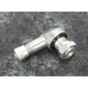 Silver 1 1/4 in. L 8mm 90 degree Angle Valve Stem - 32-2978