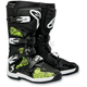 Black/Green Chrome Tech 3 Boots