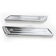 Chrome Deep Cut Saddlebag Latch Covers for Dressers - 03-536