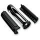Black Deep Cut Soft-Touch Grips - 07-053