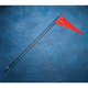 Safety Flag with 6 Foot Black Pole (2-pc) - 7BLACK