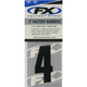 Factory 4 in. Numbers - #4 - FX08-90004