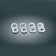 Chrome/Black Rocker Switch Cover Kit - 7232