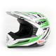 Silver/Green/Black SX-1 Switch Helmet