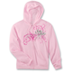 Womens Pink Street Angel Zip-Up Hoody