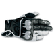 Black/White 2012 Octane S-Moto Leather Gloves