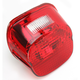 Red Laydown Taillight Lens w/Top Tag Window - 2010-0782