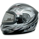 Multi Silver FX-90S Snow Helmet w/Electric Dual-Lens Snow Shield
