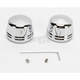 Chrome Front Axle Caps - 0309-0217