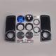 7 1/4 in. Harley Saddlebag Lid Speaker Kit w/Lids and Hardware - HSDR-7252GTM-T