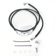 Front Extended Length ABS Black Vinyl Brake Line Kit +10 in. - 1741-3844