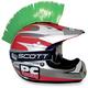 Green Helmet Mohawk - PCHMGREEN
