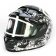 Black/Black/White CL-16SN Virgo Helmet w/Electric Shield