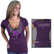 Womens Plum Official 2012 Sturgis Flying Heart T-Shirt