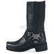 Mens Classic Harness Leather Boots - EEE Width