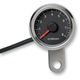 Polished Stainless Steel 1 7/8 Inch Electronic Tacometer w/ Black Face - 2211-0121